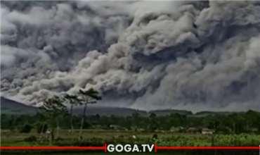 დამანგრეველი მიწისძვირის შემდეგ, ინდონეზიაში ვულკანი სემერუც ამოიფრქვა