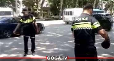 თბილისში მოქალაქეს პოლიციის მანქანა დაეჯახა