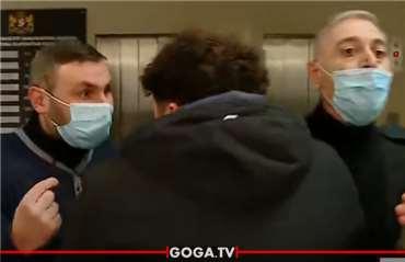 ჯანდაცვის სამინისტროსთან აქციაზე, ავტომატით შეიარაღებული პოლიციელი გამოჩნდა